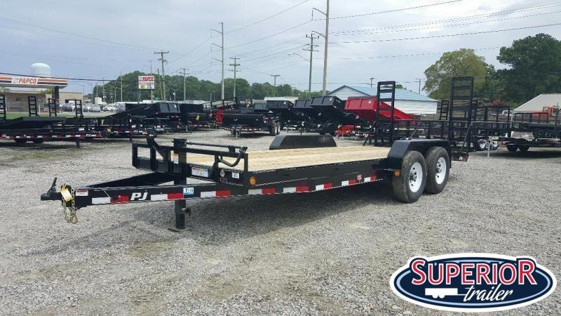 2020 PJ Trailers 22' CC 14K Equipment Trailer w/ Fold Up Ramps