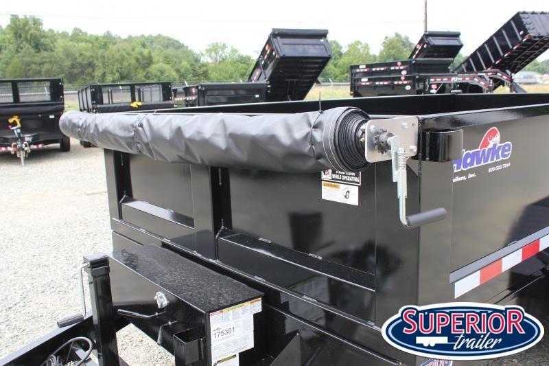 2020 Hawke 7x12 12K Dump w/ Spreader Gate Ramps and Tarp