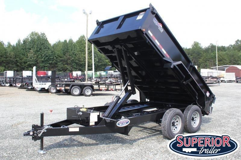 2020 Hawke 6X12 10K Dump w/ Spreader Gate and Ramps