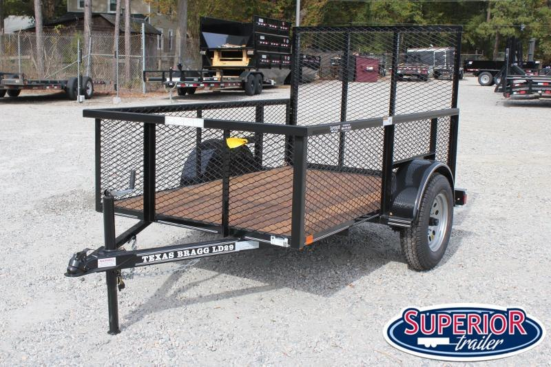 2019 Texas Bragg 5x8LD w/ 2ft Expanded Sides & Gate