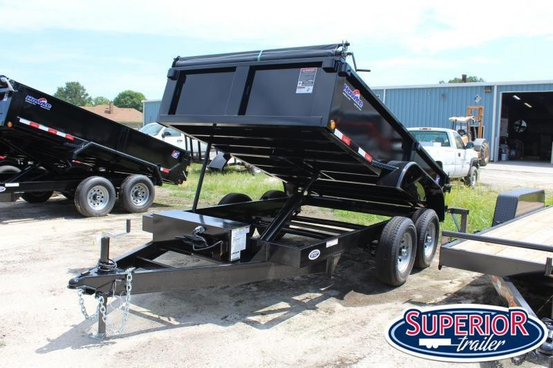 2020 Hawke 6X12 10K Dump w/ Barn Door Gate & Tarp