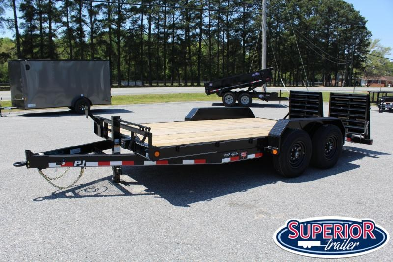 2020 PJ Trailers 16ft CC 14K w/ Monster Ramps