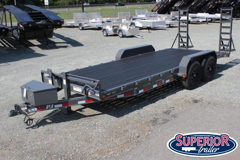 2020 PJ Trailers 20' CC 14K w/ Tongue Box and Fold Up Ramps