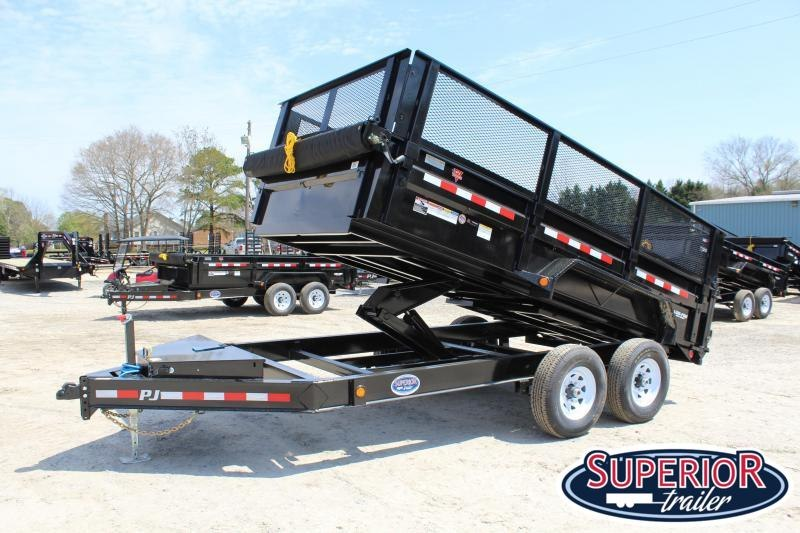 "2020 PJ Trailers 7X14 DL 14K Dump Trailer w/ 24"" Exp Metal Side Extensions"