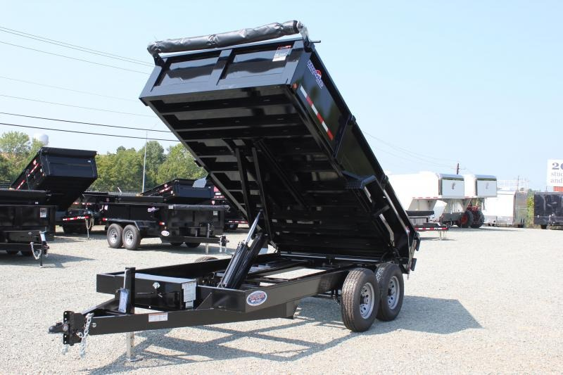 2018 Hawke 7x14 12K Dump w/ Spreader Gate Ramps and Tarp