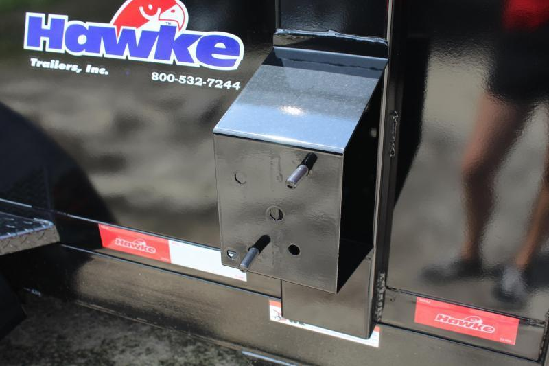 2020 Hawke 6X12 10K Dump w/ Barn Door Gate