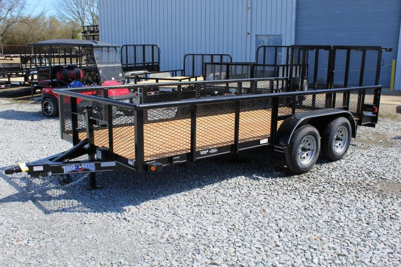 2019 Texas Bragg 16P 2ft Expanded Sides w/ Split Gate