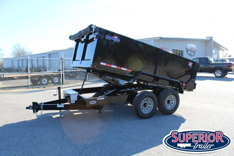 2020 Hawke 7x12 12K Dump  w/ 3' Sides Ramps and Tarp