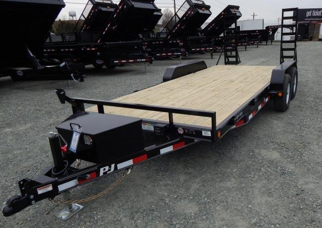 2019 PJ Trailers 18' CE 10K w/ Tongue Box and Fold Up Ramps