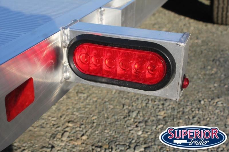 2020 Aluma 8218 Tilt Car Trailer w/ Rock Guard
