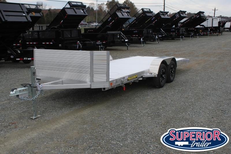 2020 Aluma 8218 Tilt Car Trailer w/ Rock Guard