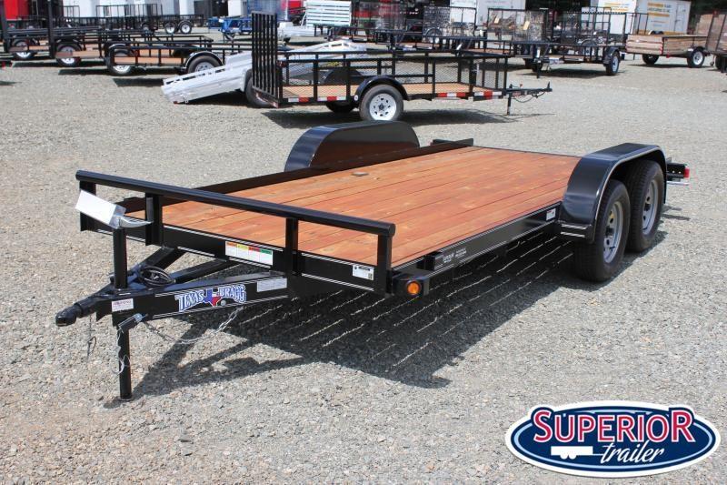 2020 Texas Bragg 16 LCH Car Trailer w/ Slide in Ramps