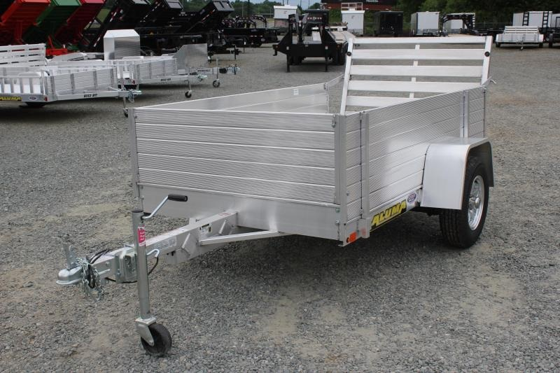 "2020 Aluma 548 LW Utility Trailer w/ 24"" Solid Rack Set"