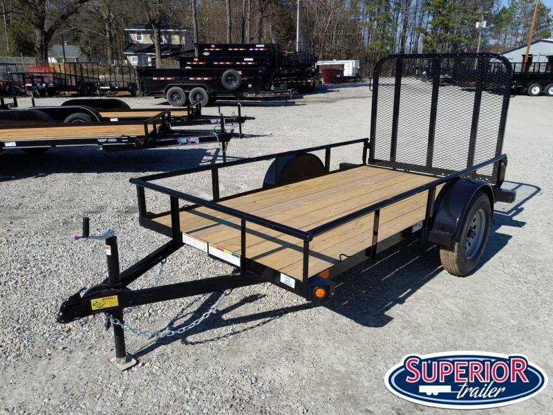 2020 PJ Trailers 5X10 E6 Utility Trailer w/ Fold Up Gate
