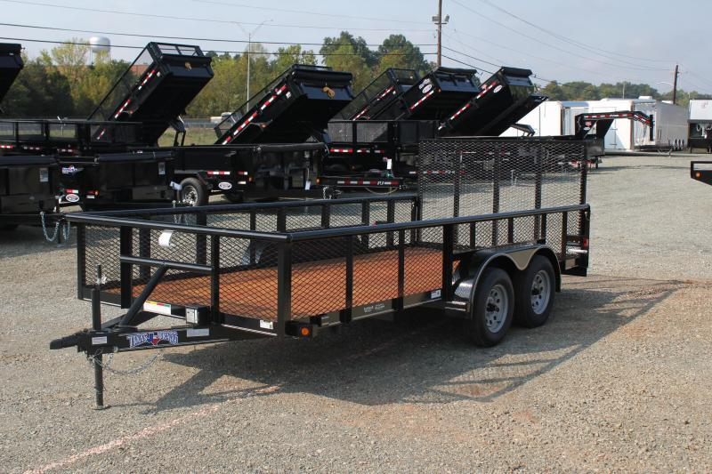 2019 Texas Bragg Trailers 16P 2ft Expanded Sides and Gate