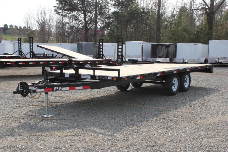 2020 PJ Trailers 20ft L6 10K Deckover w/Slide in Ramps