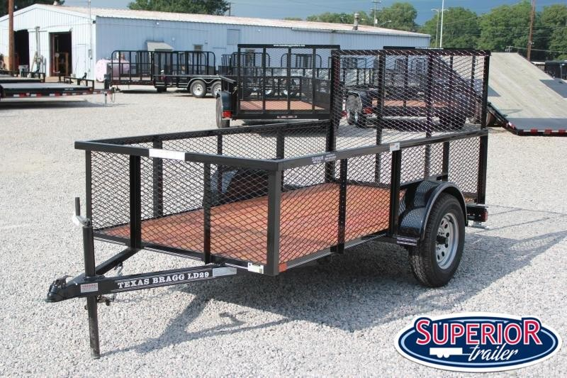 2019 Texas Bragg 5x10LD w/ 2ft Expanded Sides And Gate