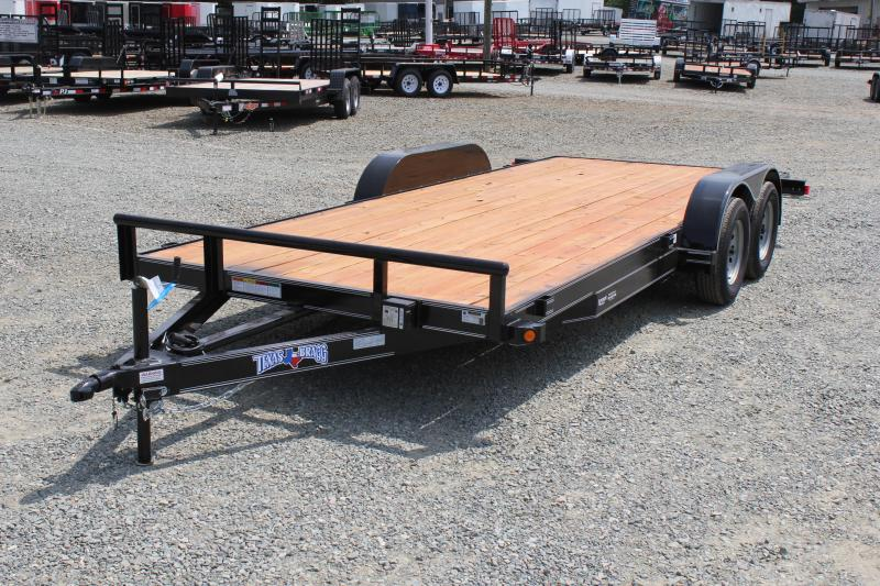 2019 Texas Bragg Trailers 18HCH Car Trailer w/ Slide in Ramps