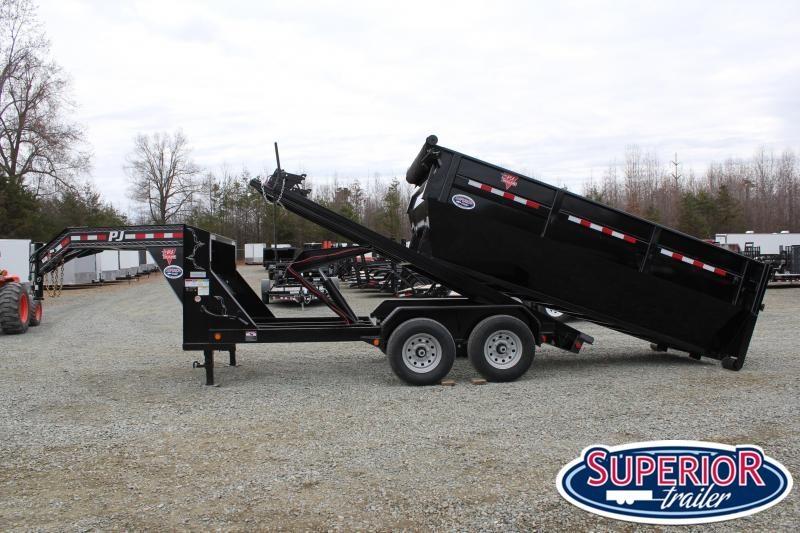 2020 PJ Trailers 7X14 DR Gooseneck Roll Off Dumpster Trailer