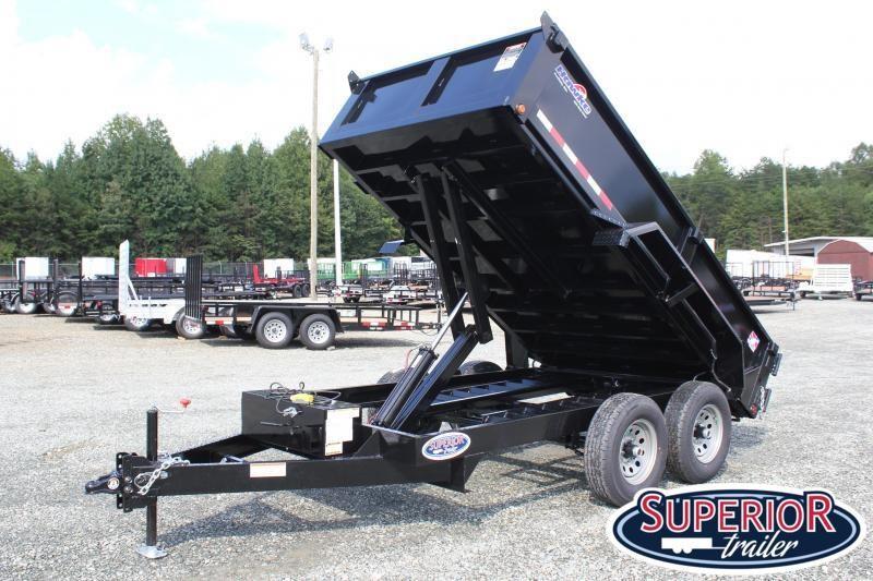 2019 Hawke 6X12 10K Dump w/ Spreader Gate and Ramps