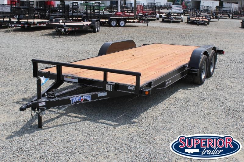 2020 Texas Bragg Trailers 18HCH Car Trailer w/ Slide in Ramps