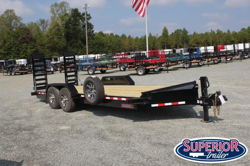 2020 Midsota ST-20 Equipment Trailer w/ HD Fold up Ramps