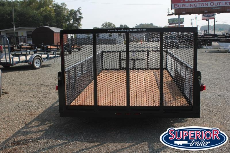 2020 Texas Bragg Trailers 16P 2ft Expanded Sides and Gate
