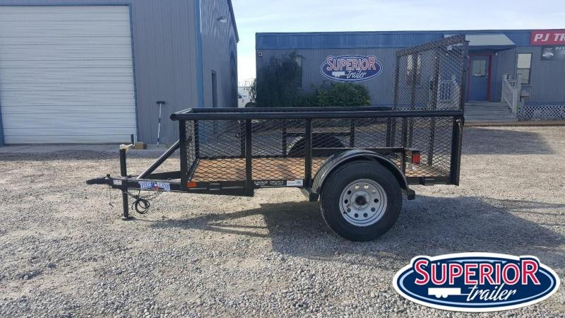 2018 Texas Bragg Trailers 5X8P Utility Trailer w/ Expanded Metal Sides