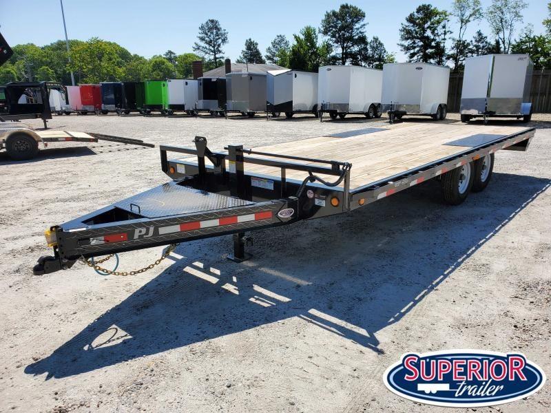 2020 PJ Trailers 20ft F8 14K Deckover w/ Slide In Ramps