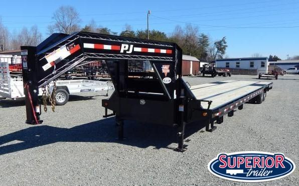 2019 PJ Trailers 40' Low Pro w/ 12K AIR RIDE Axles and 8' Slide In Ramps