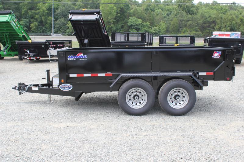 2020 Hawke 7x12 12K Dump w/ Spreader Gate Ramps and Tarp