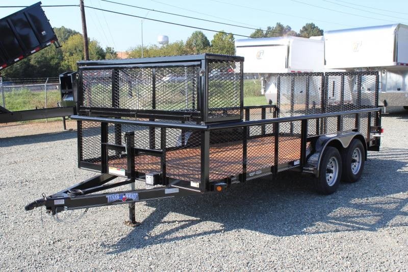 2018 Texas Bragg 16P w/ 2ft Expanded Sides 2x2 Box and Split Gate
