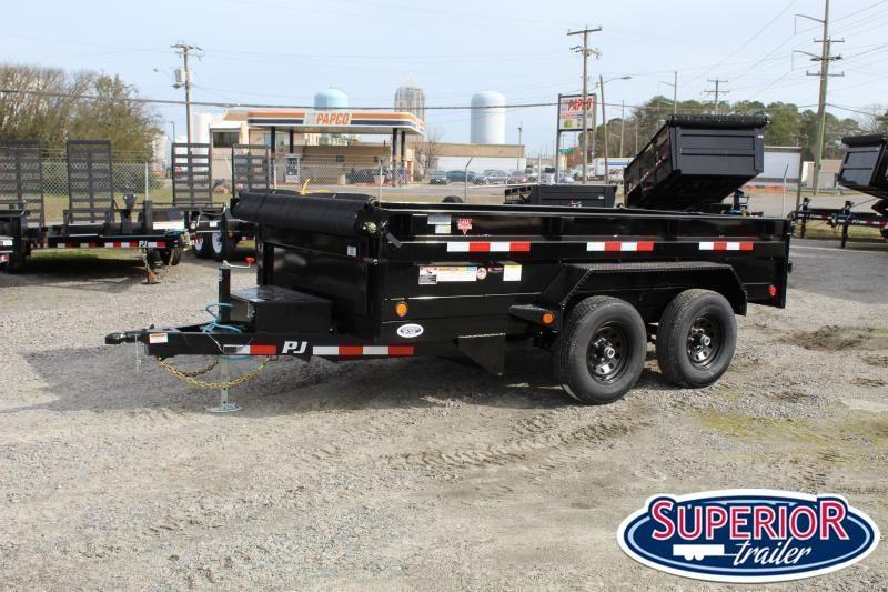 2020 PJ Trailers 6x12 D3 10K Dump w/ Ramps and Tarp