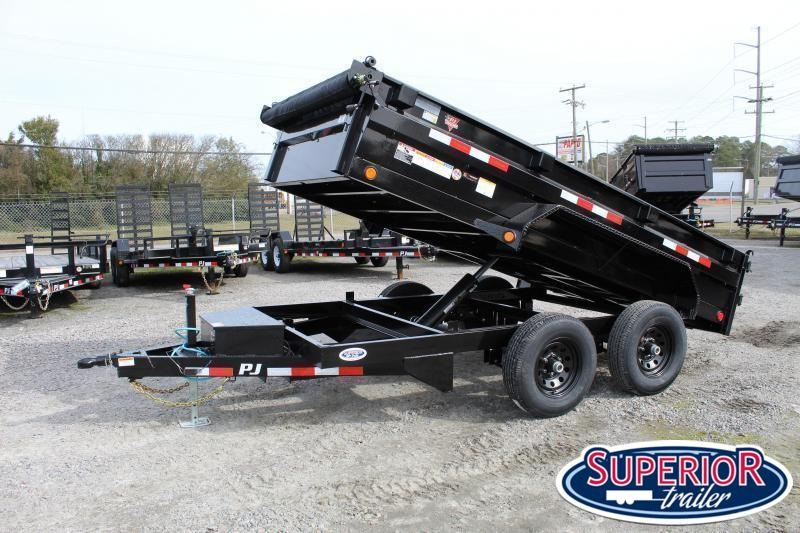 2020 PJ Trailers 6x12 D3 10K Dump w/ Ramps and Tarp