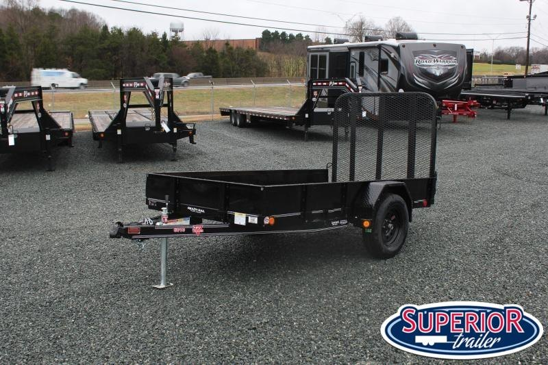 2020 PJ Trailers 5X10 U6 w/ Solid Sides and Gate