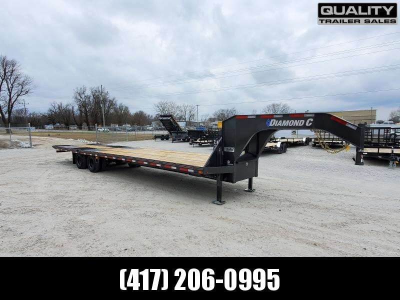 2020 Diamond C Trailers FMAX212 Flatbed Trailer 35x102  Engineered Beam 12K Axles W/ Hydraulic Dovetrail