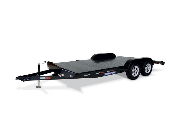 2020 Sure-Trac 7 X 18 7K Steel Deck Car Hauler Car / Racing Trailer