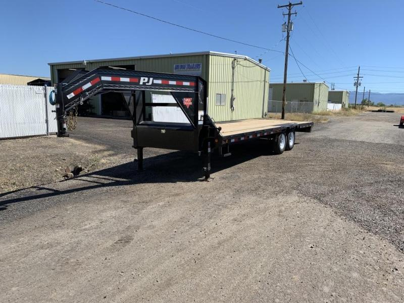 2020 PJ Trailers Low-Pro Gooseneck Flatdeck with Singles (LS) Flatbed Trailer
