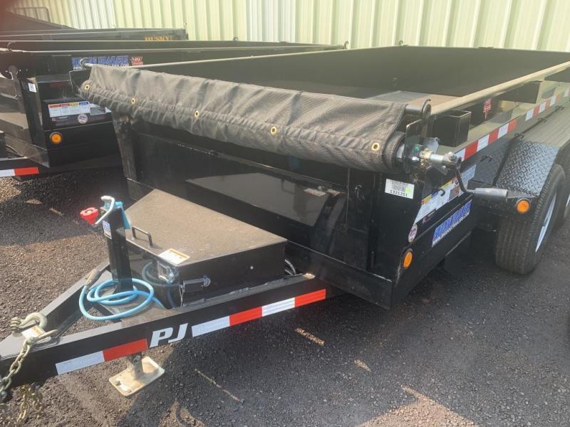 2020 PJ Trailers 6x10 10K Dump Trailer with Ramps/Tarp