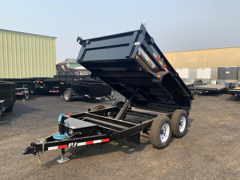 2020 PJ Trailers 6x10 10K Dump Trailer with Ramps/Tarp