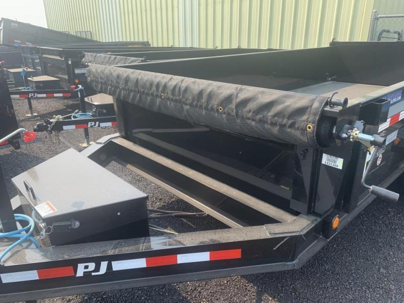 2020 PJ Trailers 7x14 14K Low Pro Dump (DL) Dump Trailer Ramps/Tarp