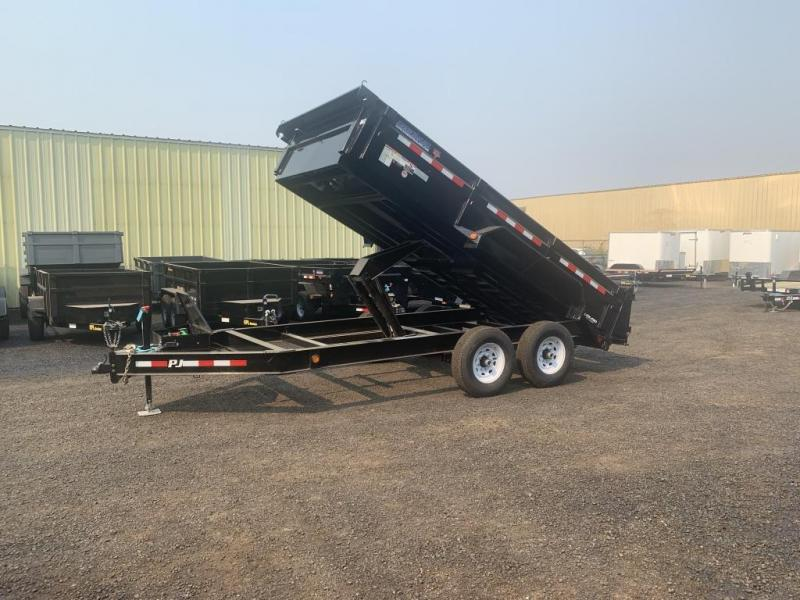 2020 PJ Trailers 7x14 14K Low Pro Dump (DL) Dump Trailer Ramps/Tarp