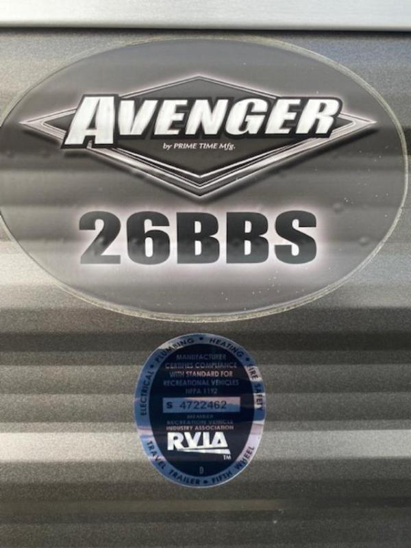 2018 Primetime Avenger ATI 26BBS Travel Trailer