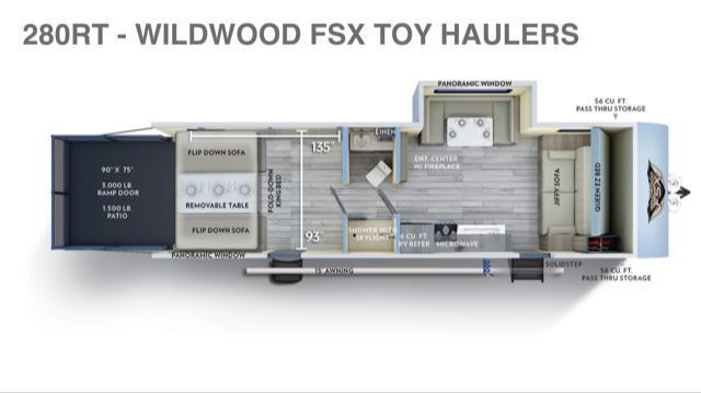 2019 Forest River Inc. WildWood FSX 280RT Toy Hauler