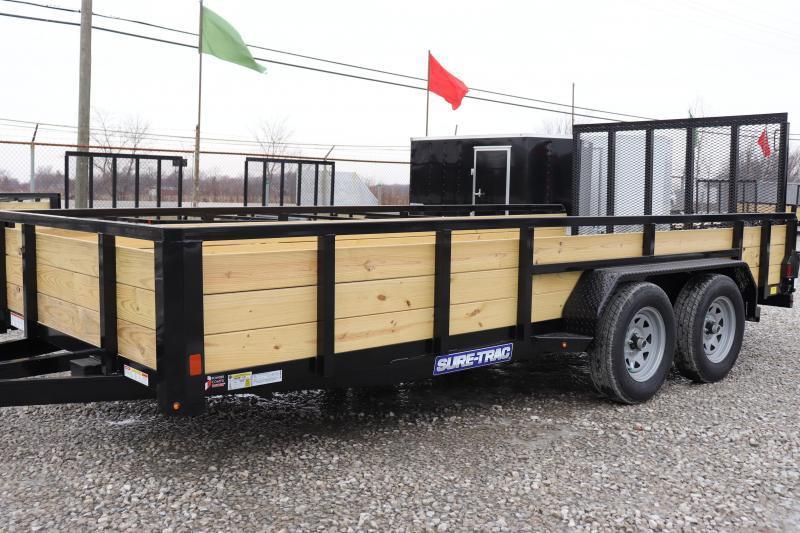 2020 Sure-Trac 7x16 7K 3-Board Utility Trailer
