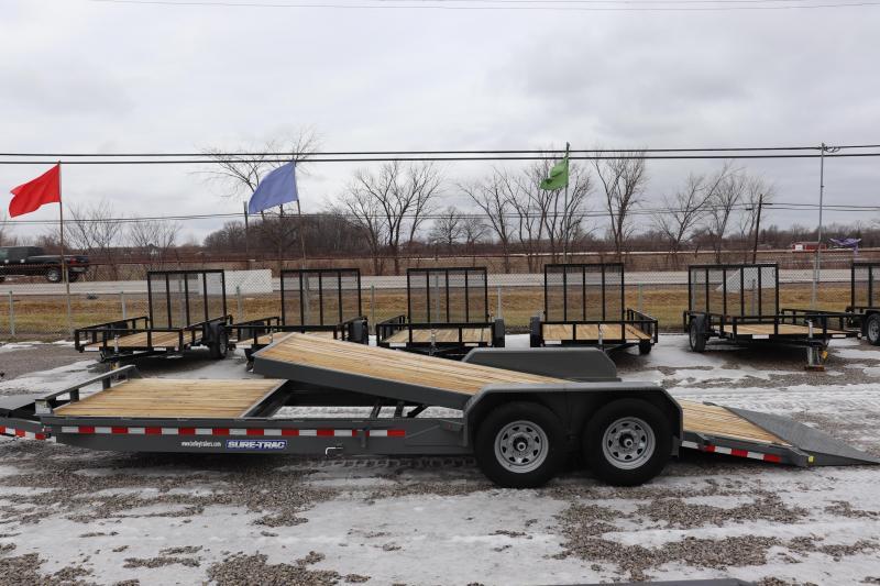 2020 Sure-Trac 7x18+6 14K Tilt Bed Equipment Trailer