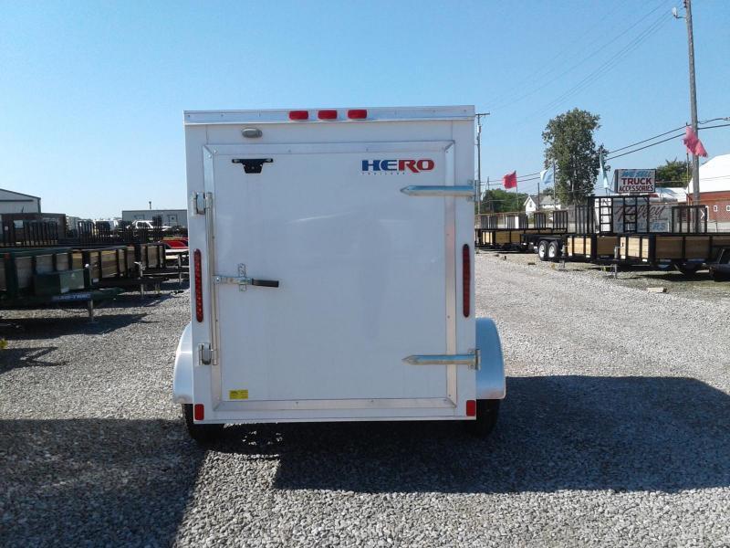 2020 Bravo Trailers 5x8 Hero w/ Single Rear Door Enclosed Cargo Trailer