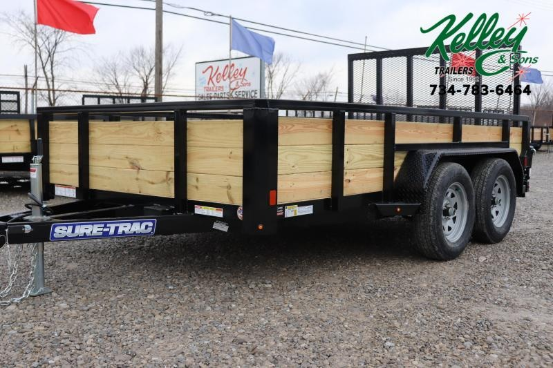2020 Sure-Trac 7x12 7K 3-Board Utility Trailer