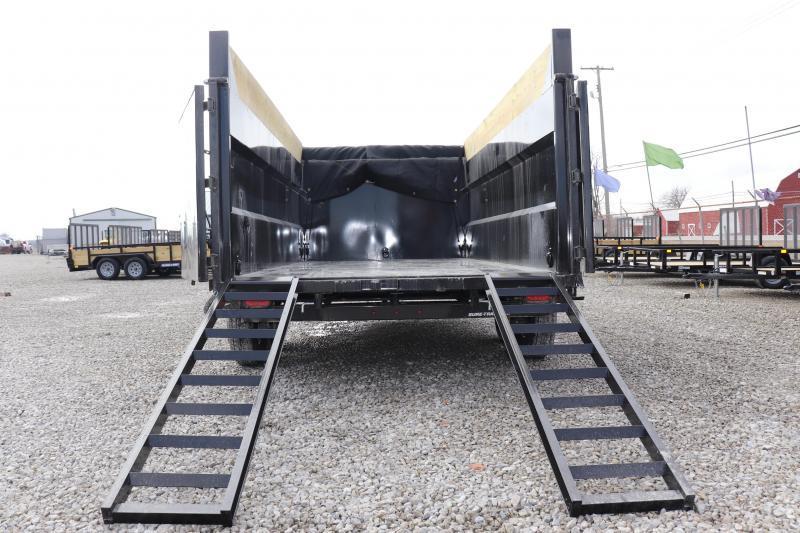 "2020 Sure-Trac 82""x14 14K w/ 4' Sides Telescopic Pro Dump Trailer"