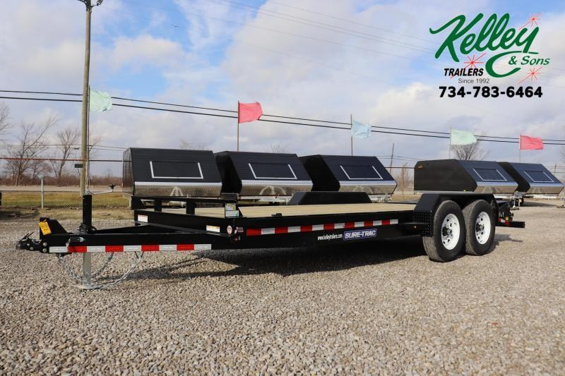 2020 Sure-Trac 7x15+3 14K Implement HD Universal Ramp Equipment Trailer
